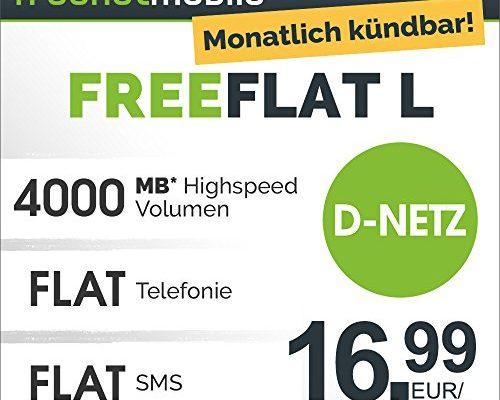 freenetmobile freeflat l im d netz 1 monat laufzeit. Black Bedroom Furniture Sets. Home Design Ideas