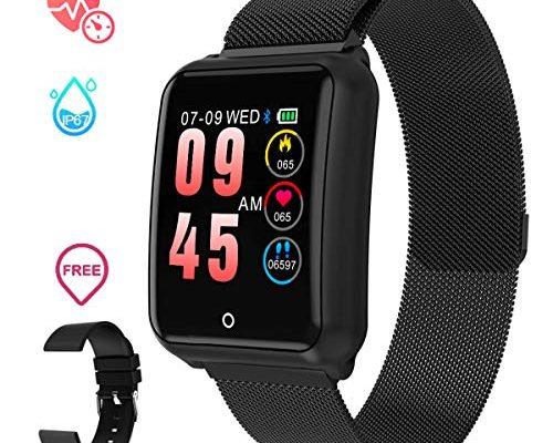 smartwatch herren gokoo smart uhr stylische ip67. Black Bedroom Furniture Sets. Home Design Ideas